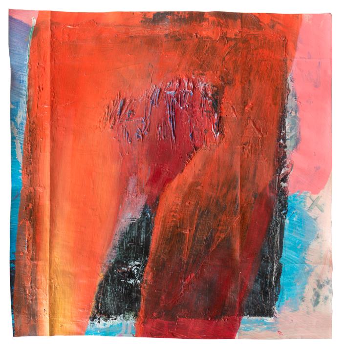 luigigi, 2019, Öl auf Papier, 38,5 x 39 cm